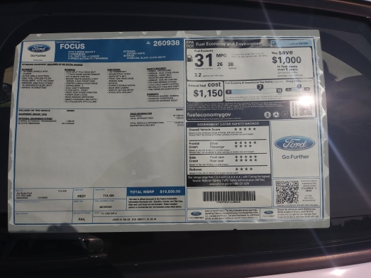 Car info label
